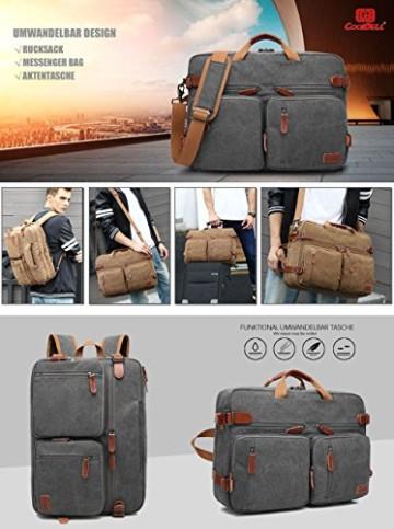 CoolBell umwandelbare Rucksack Messenger Bag