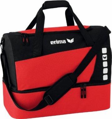 erima Sporttasche mit Bodenfach in Rot/Schwarz