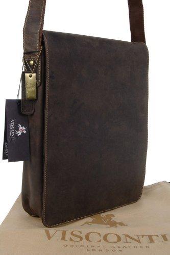 Große braune Umhängetasche aus Leder