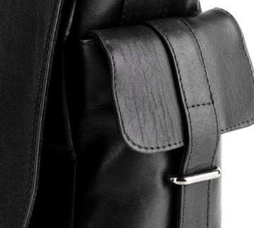 Herren Leder-Umhängetasche in Schwarz