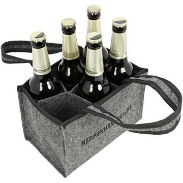 Herrenhandtasche aus Filz für 6 Flaschen