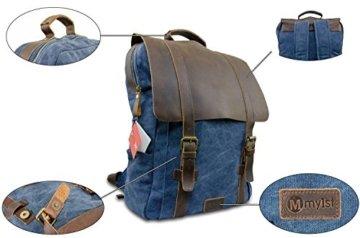Laptop Rucksack Retro - Echtes Leder