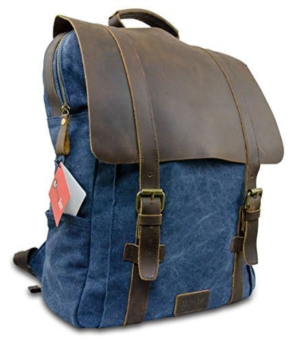 laptop rucksack retro echtes leder taschen f r herren. Black Bedroom Furniture Sets. Home Design Ideas