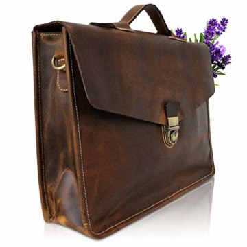Notebook-Tasche aus Echt-Leder